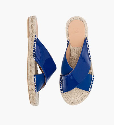 BRIGHT BLUE - Cross Sandal