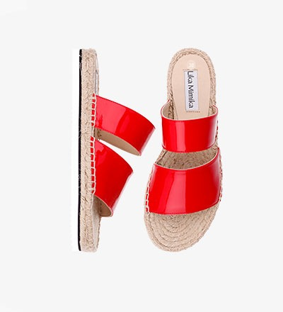 CHERRY - CALF Leather / Hybrid Sandal