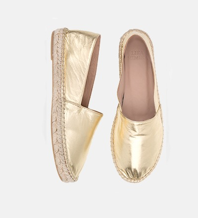 GOLD SHIMMER - Goat Leather / Espadrilles