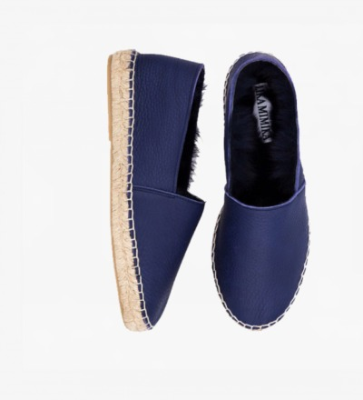 PEN - RABBIT FUR ESPADRILLES