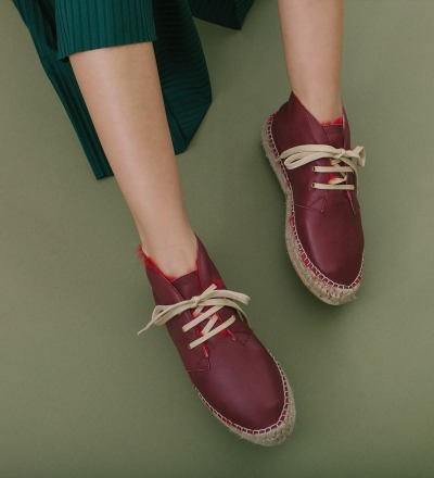 ROSSO - RABBIT FUR HIGH LACE UP
