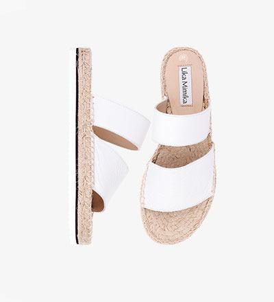 WHITE - CALF Leather / Hybrid Sandal
