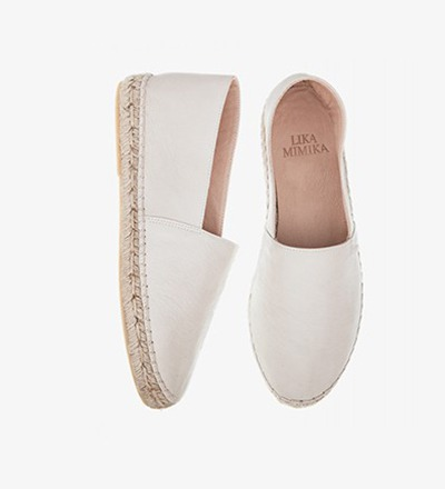 IVORY - Calf Leather / Espadrilles
