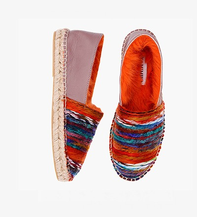 BEL FOREST - RABBIT FUR ESPADRILLES