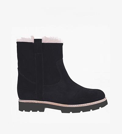 BLACK NUIT - Calf Suede / Snow Boot