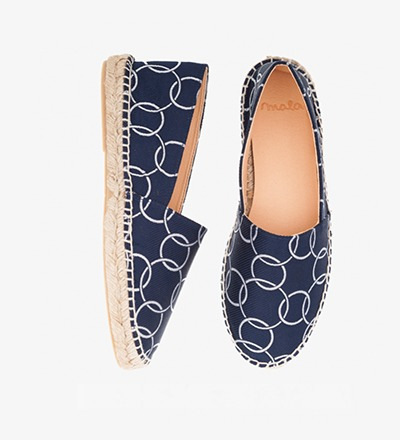 BLUE CIRCLES - Cotton Mix / Espadrilles