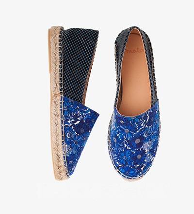 BLUE FLOWER CHEST - Cotton Mix / Espadrilles