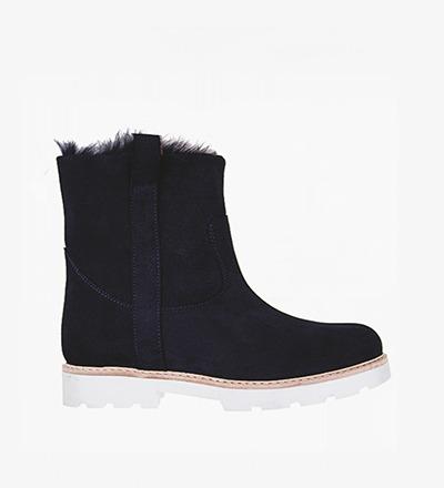 DARK BLUE PEN - Calf Suede / Snow Boot