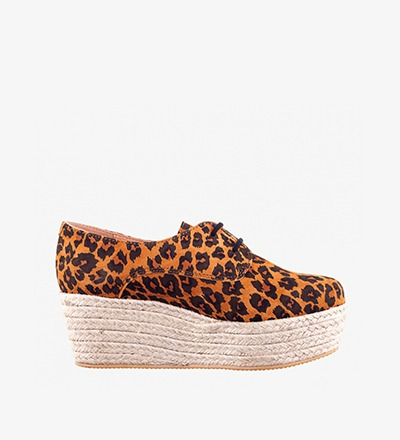 LEOPARD - Plateau Lace Up