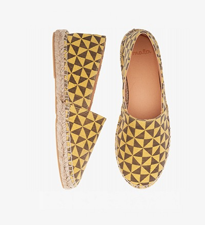 MUSTARD TRIANGEL - Cotton Mix / Espadrilles