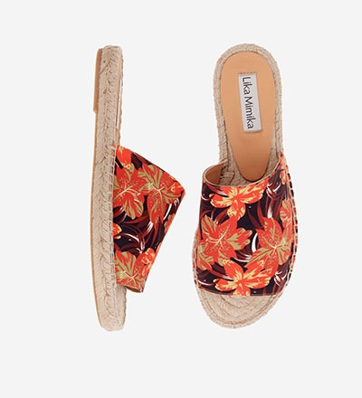 RED FLOWER - Slipper Espadrilles