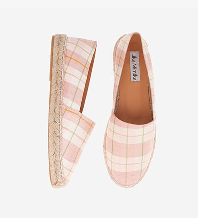 CHECKERED ROSE - Cotton Silk / Espadrilles