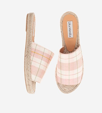 CHECKERED ROSE - Slipper Espadrilles
