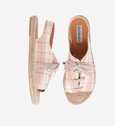 CHECKERED ROSE - Sling Sandal