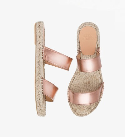 SHINY COPPER - Straight Sandal