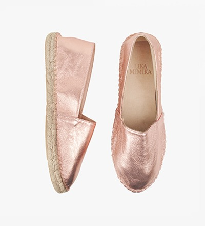 ROSE SHIMMER - Goat Leather / Espadrilles