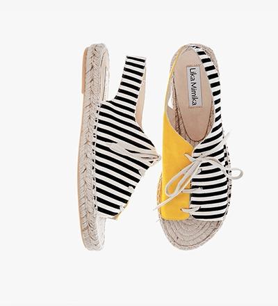 SOLE STRIPES - Sling Sandal