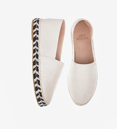 IVORY ZEBRA - Calf Leather / Espadrilles