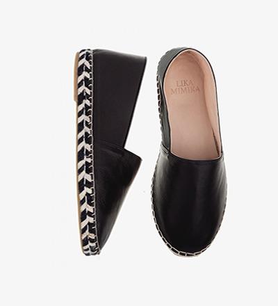 BLACK ZEBRA - Calf Leather / Espadrilles