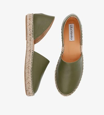 OLIVE - Calf Leather / Menorquinas