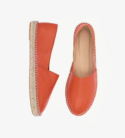 COGNAC - Calf Leather  / Espadrilles