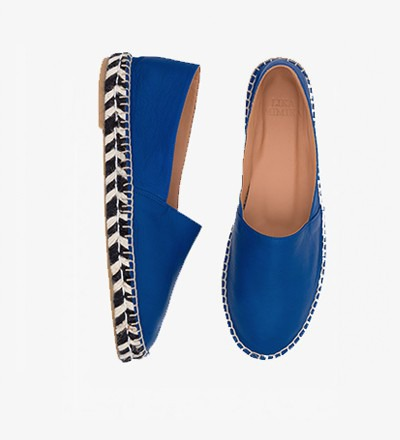 YVES ZEBRA - Calf Leather / Espadrilles