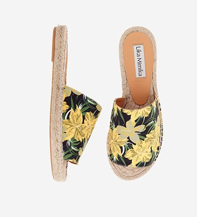YELLOW FLOWER - Slipper Espadrilles