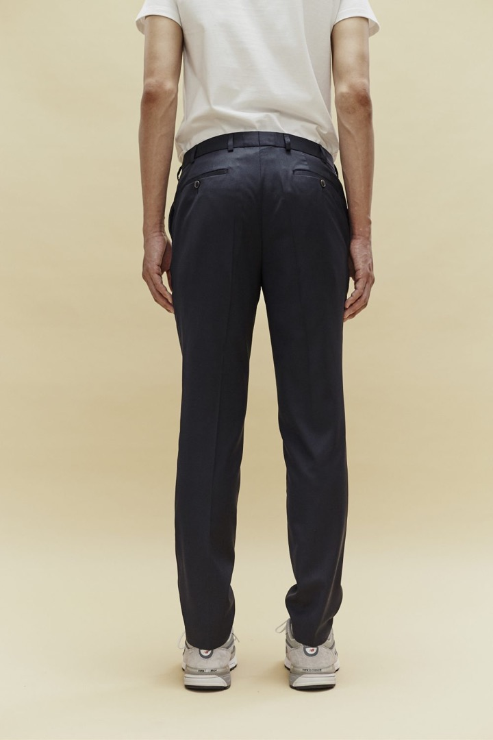 Classy Tailored Trousers - Marine - 3