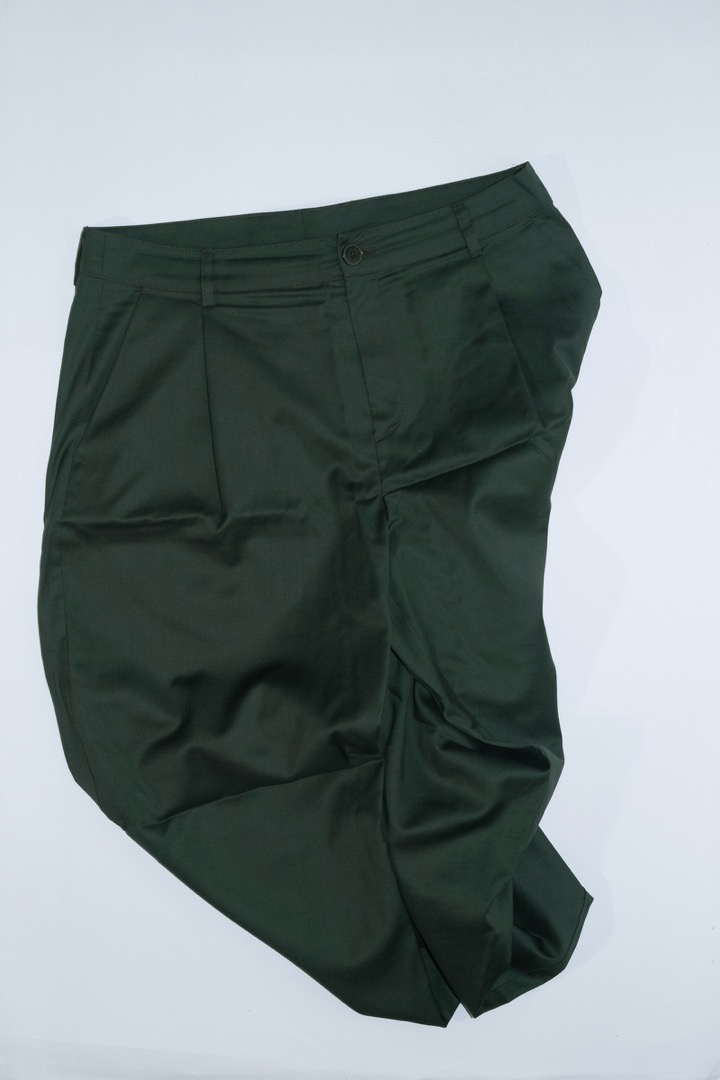 Classy Wide Trousers - Olive