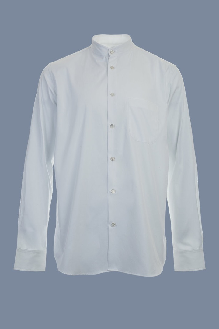 Mao Collar Shirt - White - 2