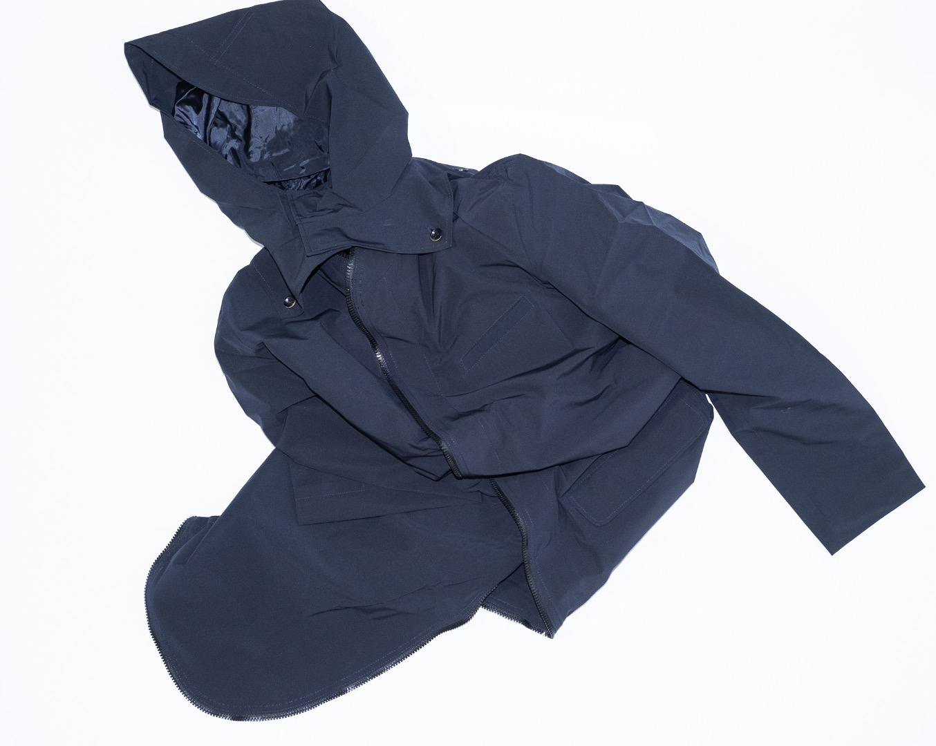 Raincoat - Navy Blue - 1