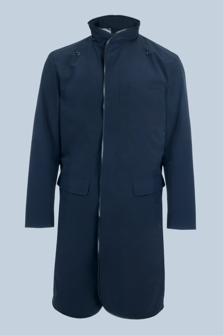 Raincoat - Navy Blue - 2