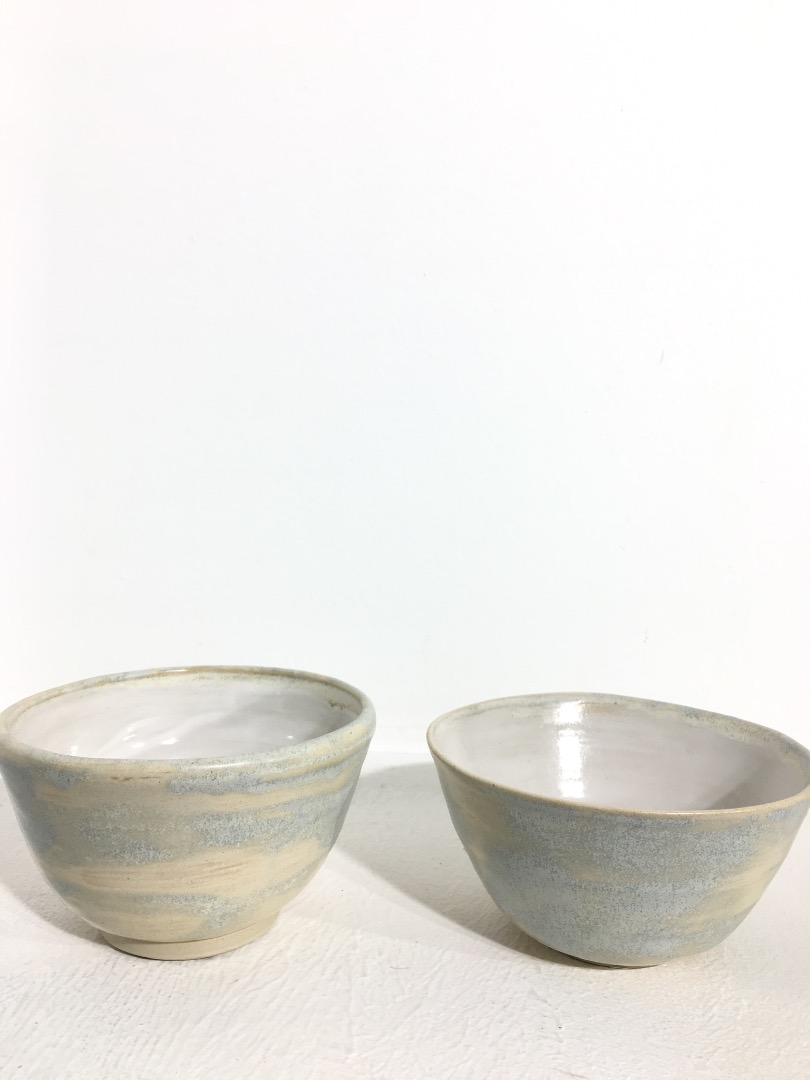 Bowl 12 cm - Cream, Light Blue / White - 2