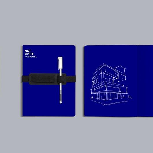 Not White Light Blue Notebook L