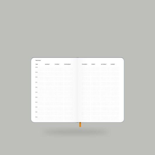 Weekly Diary 2020 Shiny Silver S - 8