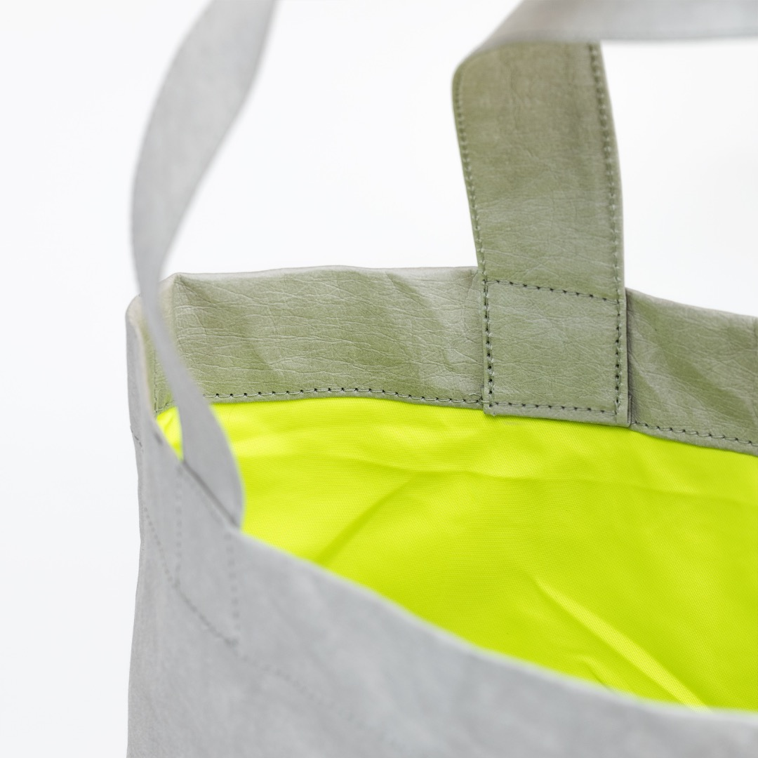 Paperbag NO 01 - Grey | Neon Yellow - 2
