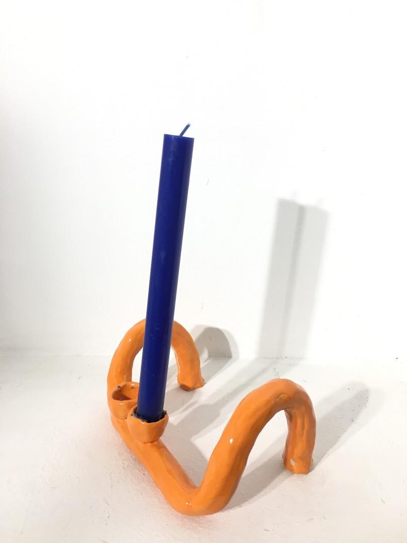 Candle Holder Orange 2