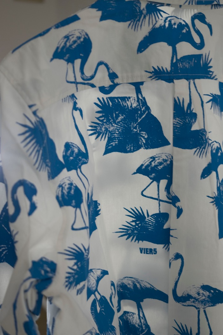 V5 Flamingo Shirt blue 2