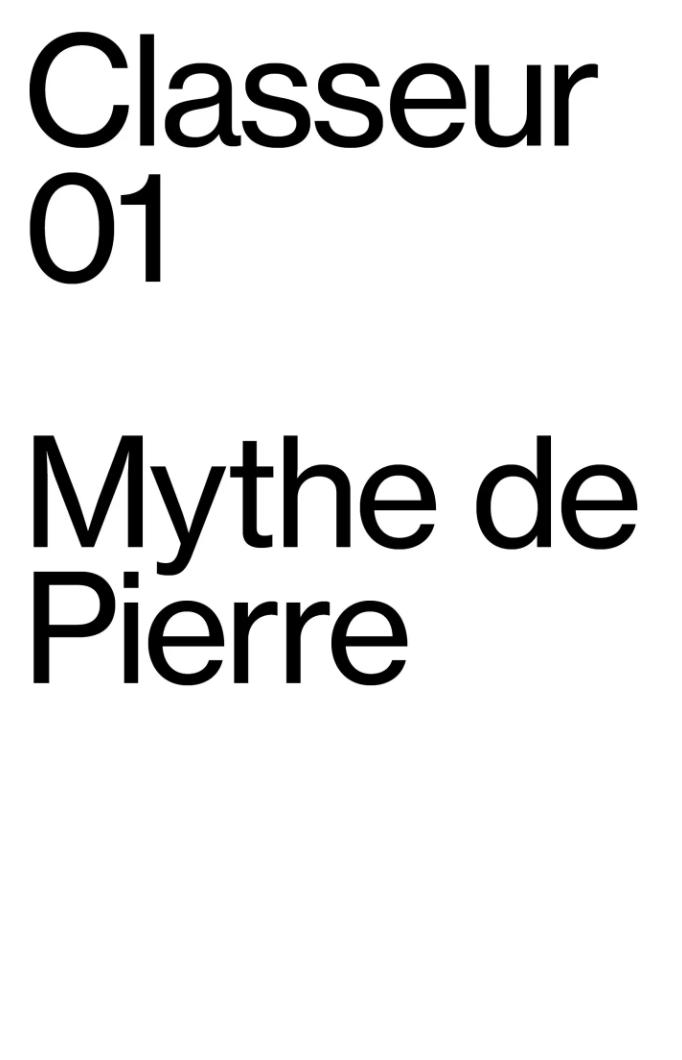 Classeur Mythe de Pierre Cosa Mentale