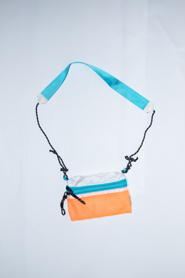SACOCHE Small Orange & Teal - 2