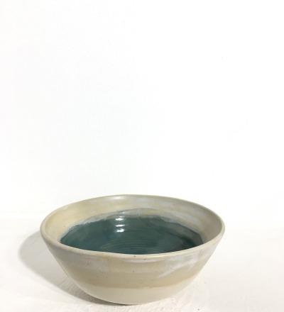 Bowl 14 cm - Cream / Teal - KIM CERAMICS