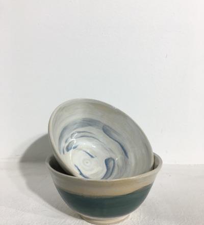 Bowl 14 cm - Teal / Sky - KIM CERAMICS