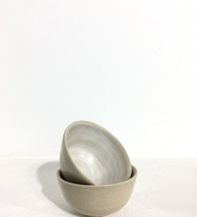 Bowl 9 cm - Cream / White - KIM CERAMICS