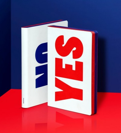 Yes No Red/Blue - Notebook L - NUUNA