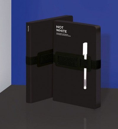 Not White Light Black Notebook L
