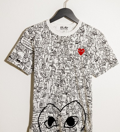 T-Shirt Life in Hell All over Print - COMME DES GARÇONS PLAY