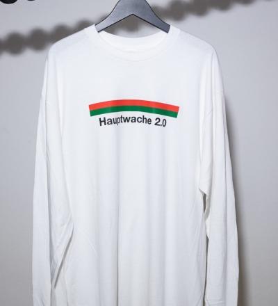 Hauptwache 20 Longsleeve-Shirt white - HAUPTWACHE