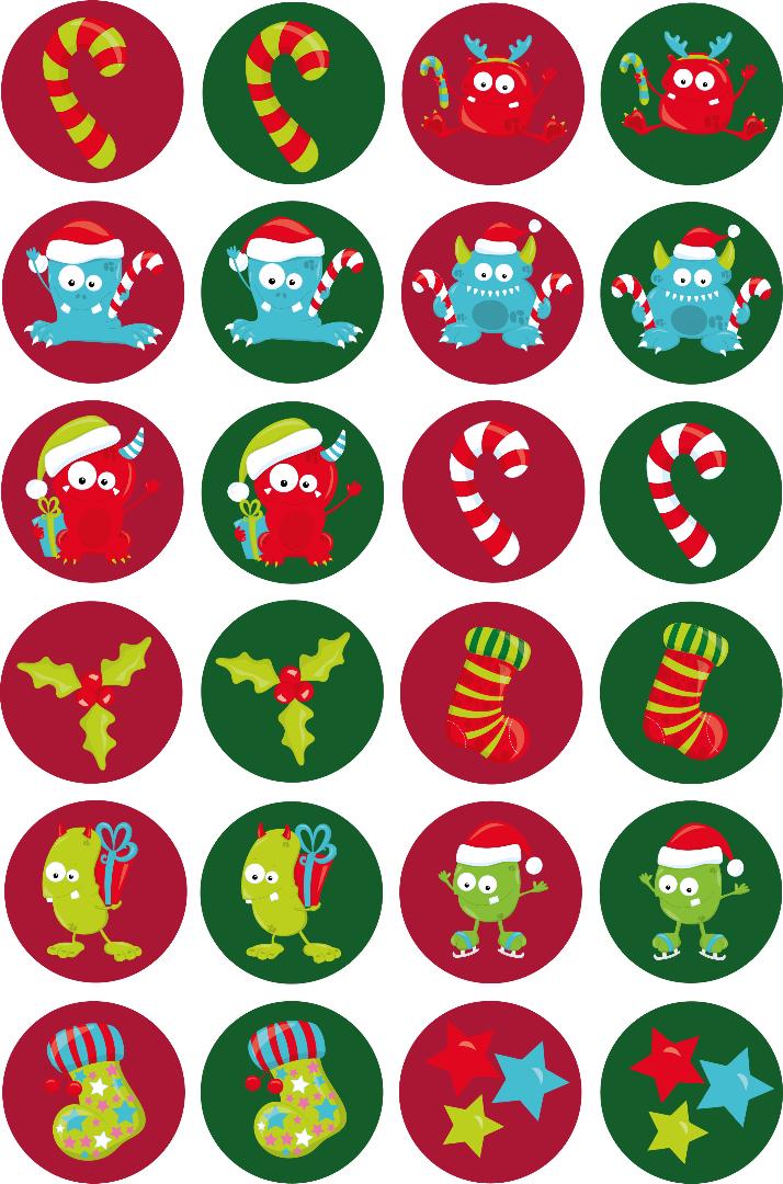 Sticker/ Aufkleber Weihnachtsmonster - 1