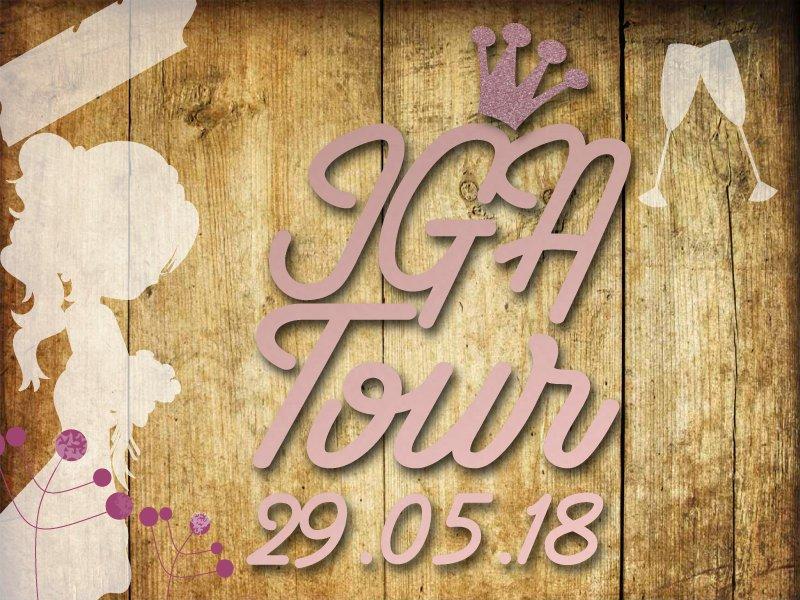 Glitzer Buegelbild JGA Tour