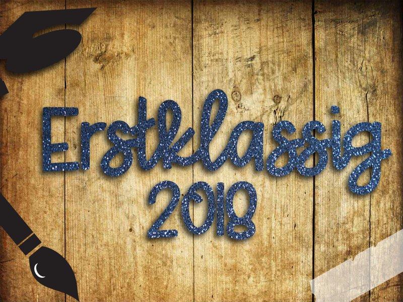 Glitzer/ Velour Buegelbild Erstklassig 2018